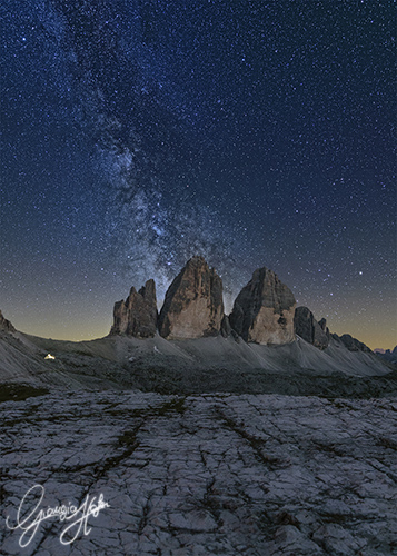 Milky Way over Tre Cime