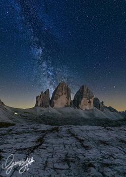 Milky Way over Tre Cime