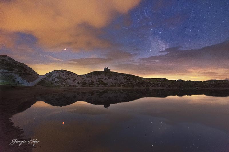 Eclissi di Luna laghi d'Olbe
