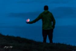 Luna sul palmo dell mano