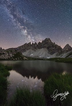 Milky Way over Paterno mount