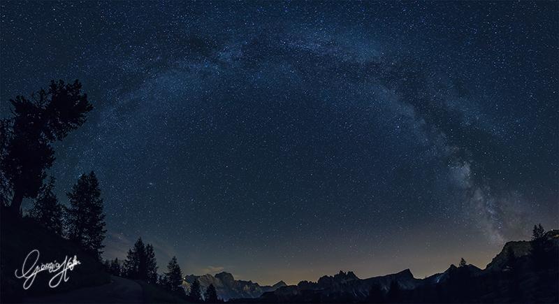 Milky Way archCinque Torri