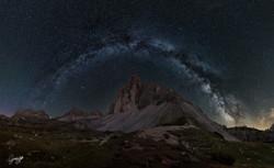 Arco della Via Lattea alle Tre Cime
