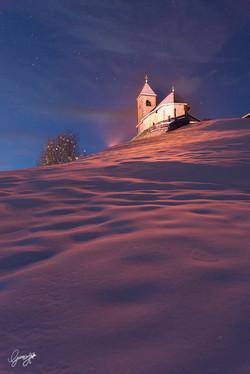 San Leonardo al tramonto
