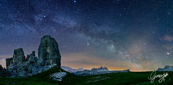 Milkyway over Cinque Torri