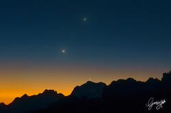 Moon Venus and Jupiter Conjunction