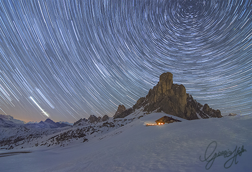 Startrail over  Ra Gusela