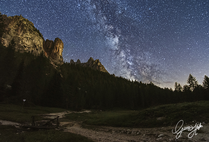 Milky Way over Cadini