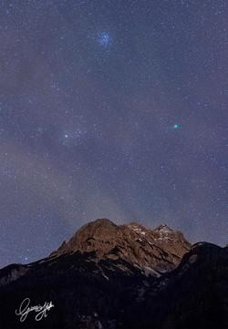 Miaron, cometa Lovejoy, Pleiadi e Toro