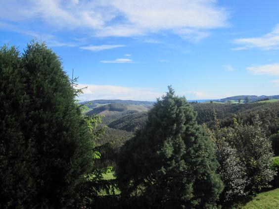 balcony view coastline