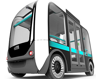 Imae of the Olli shuttle by Local Motors