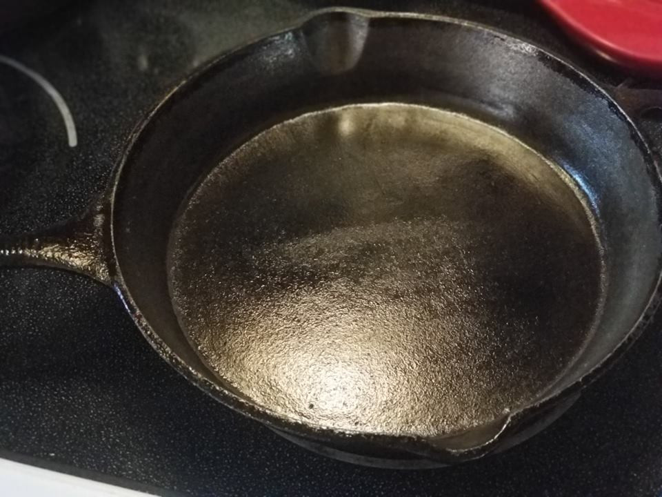 Shiny and Clean cast iron!