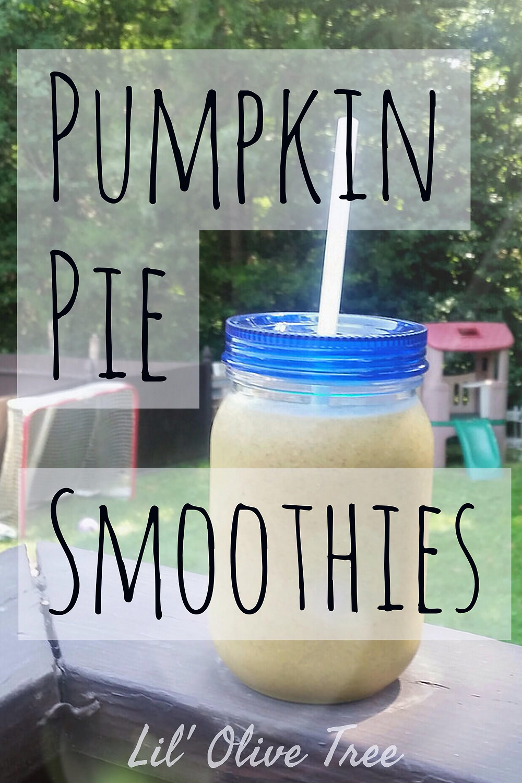 Pumpkin Pie Smoothies