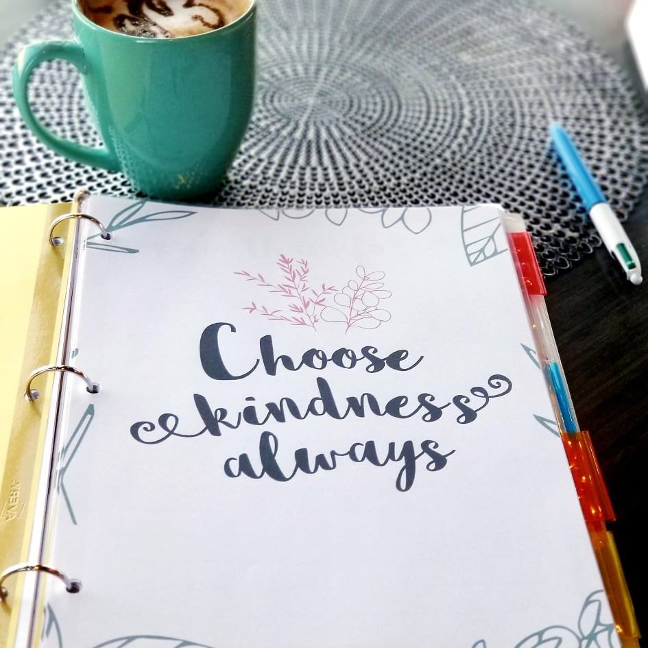Encourage kindness and positive energy with reminders and words of affirmation.