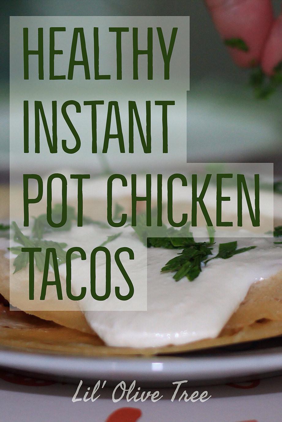 Instant Pot Organic, Gluten-Free Chicken Tacos