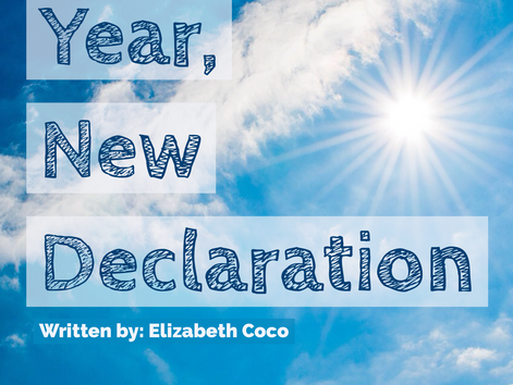 Tuesday Takeover:  New Year, New Declaration