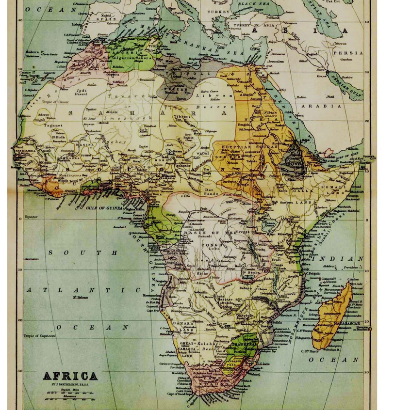 1885 Map of Africa