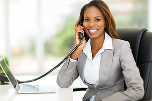 attractive african american office worke