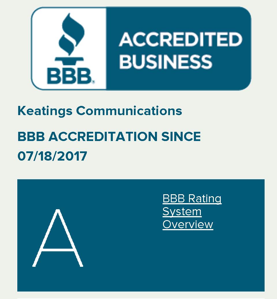 Keatings Communications BBB Rating
