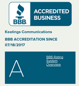Keatings Communications BBB Rating