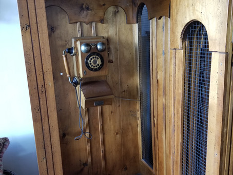 Neat old phone booth