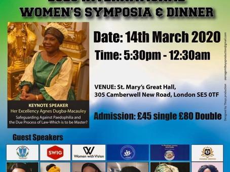 2020 International Women's Symposium & Dinner
