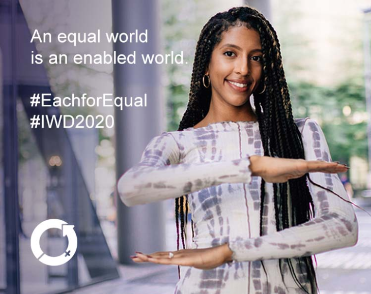 International Women's Day 2020 campaign theme - #EachforEqual