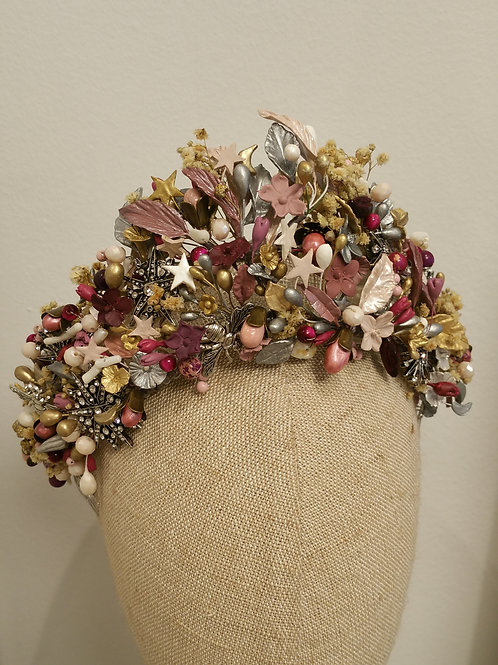 Tocado pamela flor turquesa2