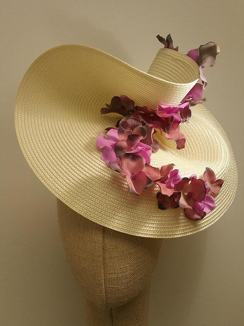 Tocado pamela flor turquesa