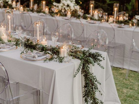 Mesas de boda con estilo