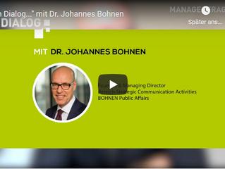 Johannes Bohnen im Video-Interview zum Thema CPR bei Managerfragen.org