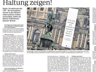Interview in Sächsische Zeitung