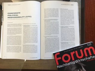 """10 CPR-Thesen in """"FORUM Nachhaltig Wirtschaften"""""""