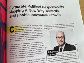 Why Corporate Political Responsibility (CPR) is essential for Sustainable Innovative Growth