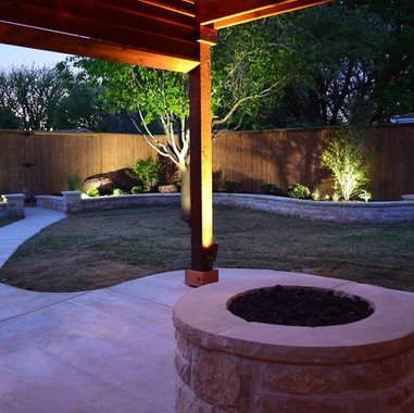 Dallas Landscape Lighting Pergola and La