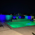 Poolside lighting in full color by Night