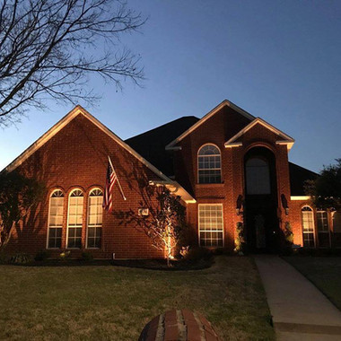 Dallas Outdoor Lighting Exterior facade
