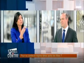 Débat musclé sur les plateaux de RTL-TVI dans l'émission Pour ou Contre : les régimes Détox aprè