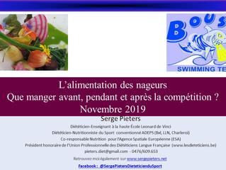 Conférence - Le Boust - l'alimentation des nageurs