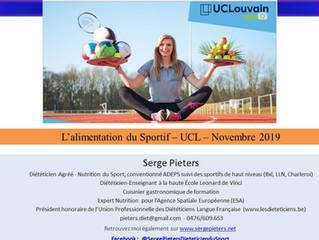 Conférence - L'alimentation du Sportif – UCLouvain Sport