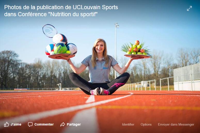 Retrouvez  le pdf de l'exposé sur l'alimentation du sportif donné à l'UCL pour les sportifs de haut niveau