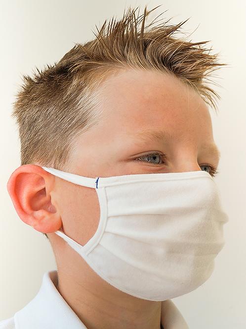 Masques enfant blancs 120 lavages dès 25 pcs