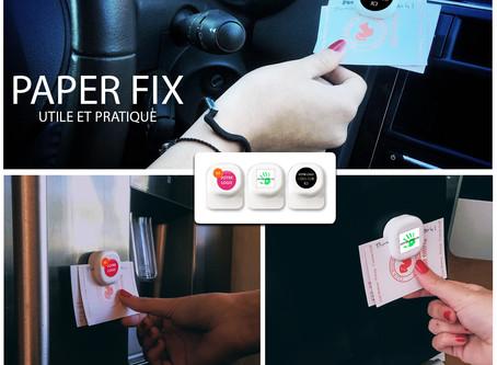 PAPERFIX Clip Mémo adhésif. Utile et pratique !