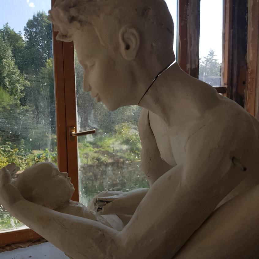 Sculpture bronze/le modèle