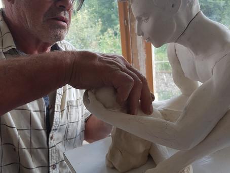 Naissance d'un Bronze dans l'atelier de   COUDRAIN-SCULPTEUR