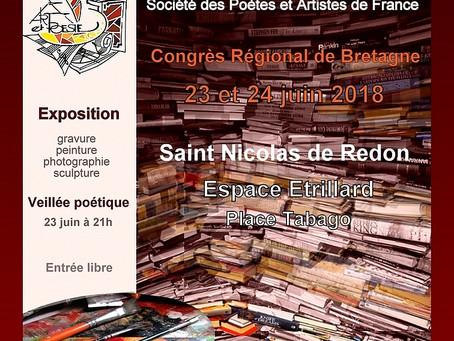 SPAF (Société des Poètes et Artistes de France) Grand Prix Régional de Bretagne 2018