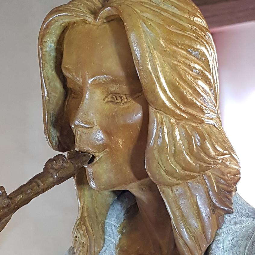 Saxophoniste/bronze/Coudrain
