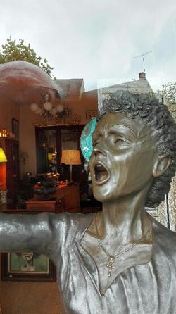 MON DIEU buste Edith Piaf bronze