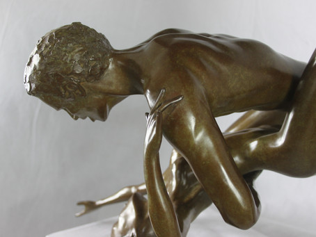 L'ETREINTE : SCULPTURE BRONZE