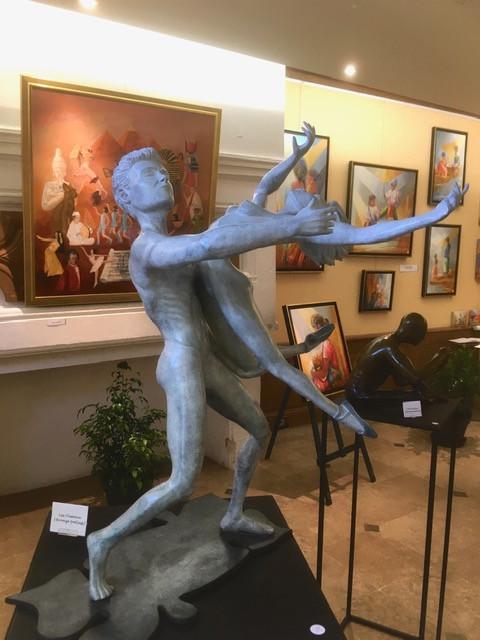 Les Oiseaux sculpture bronze 36° salon des Arts et Poésie de Touraine